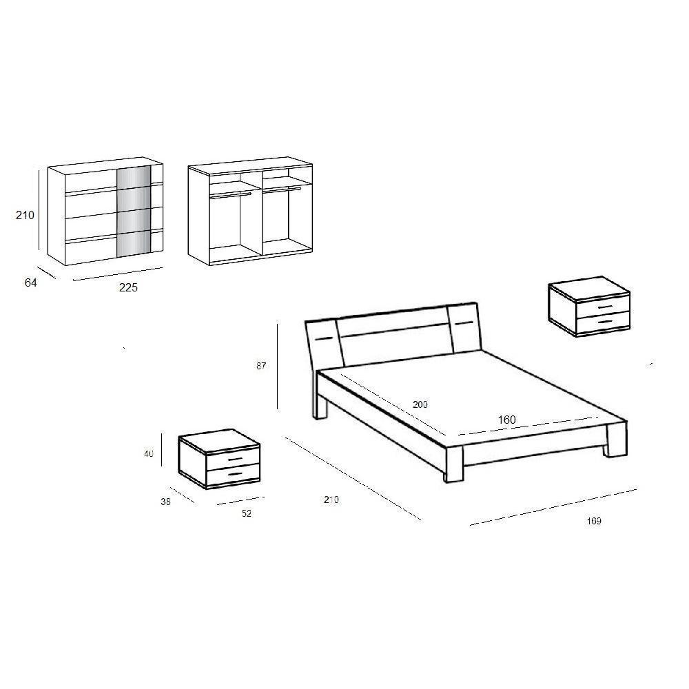 Lits design chambre literie chambre coucher denver for Chambre bebe denver