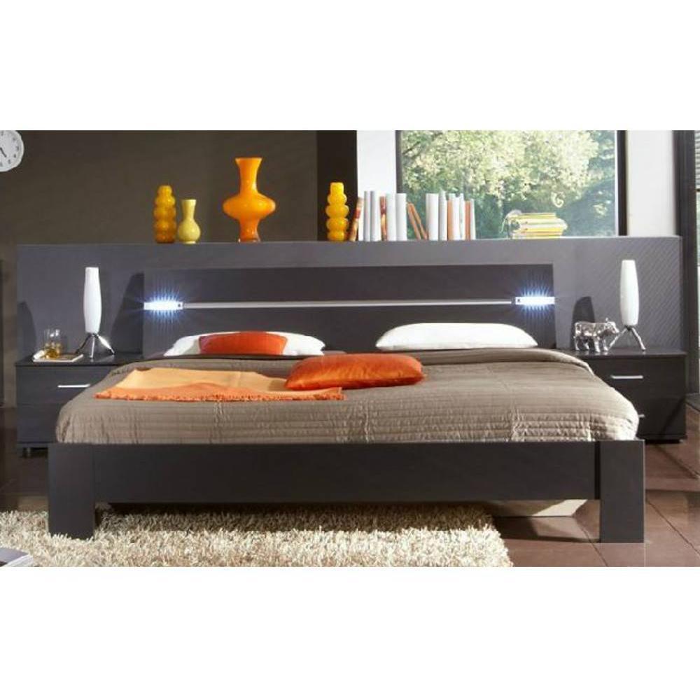 lits chambre literie chambre coucher dakota lave. Black Bedroom Furniture Sets. Home Design Ideas
