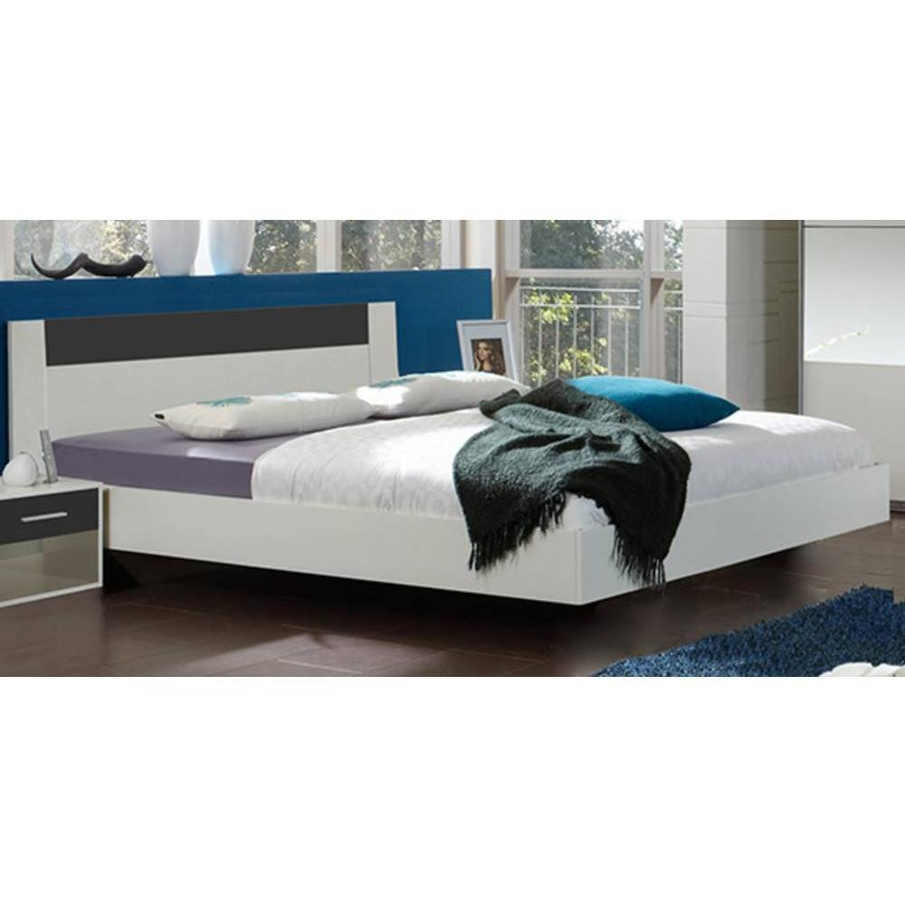 Lits chambre literie chambre coucher thalia blanche for Ensemble de chambre blanc