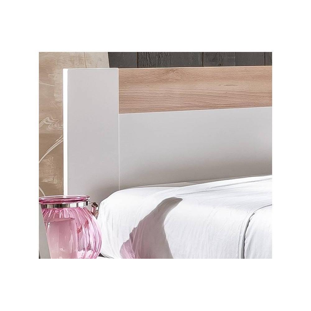 Chambre à coucher THALIA blanche/hêtre 140*200cm