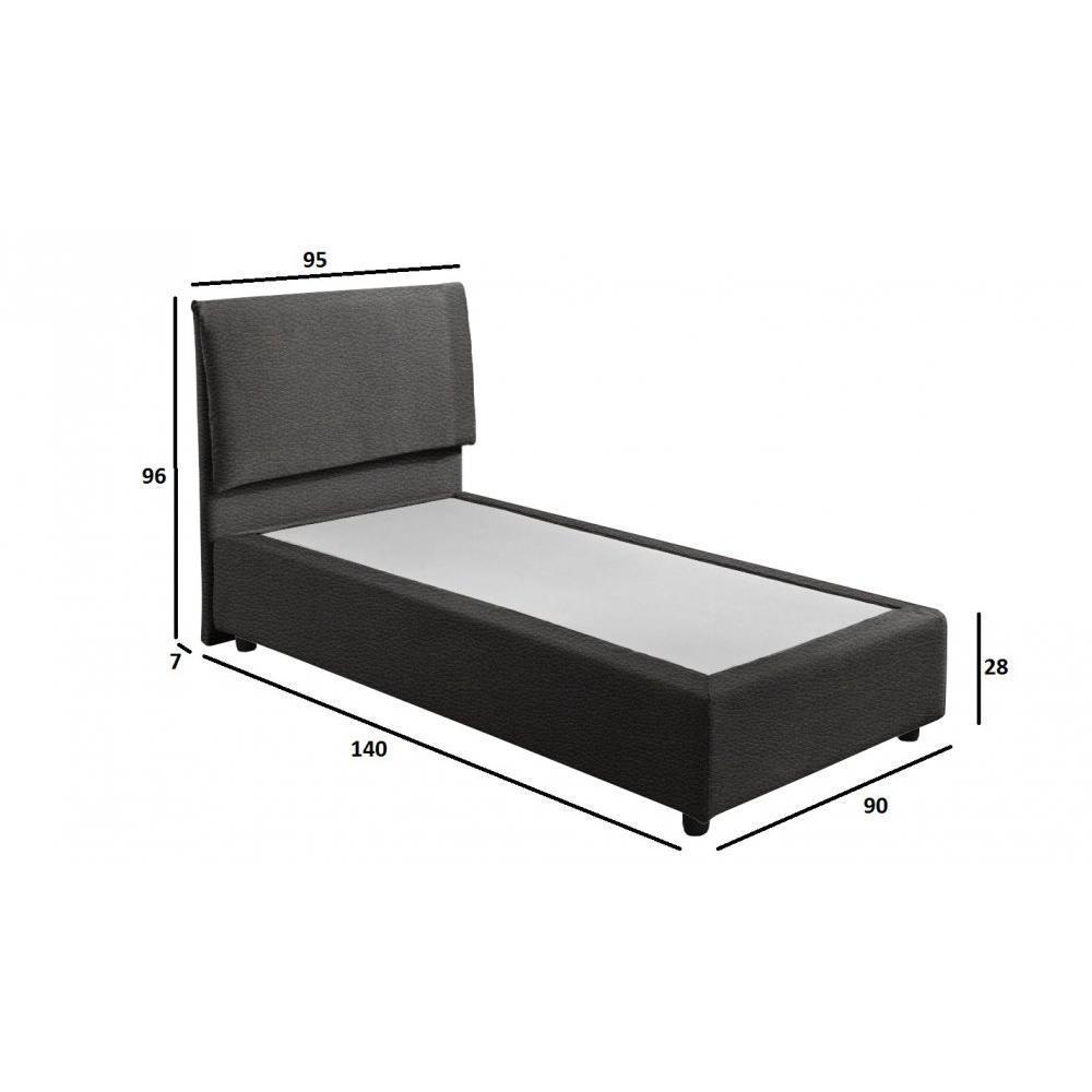 Lits chambre literie sommier fouquet haut de gamme 90 190 cm avec t te de lit inside75 - Literie haut de gamme simmons ...