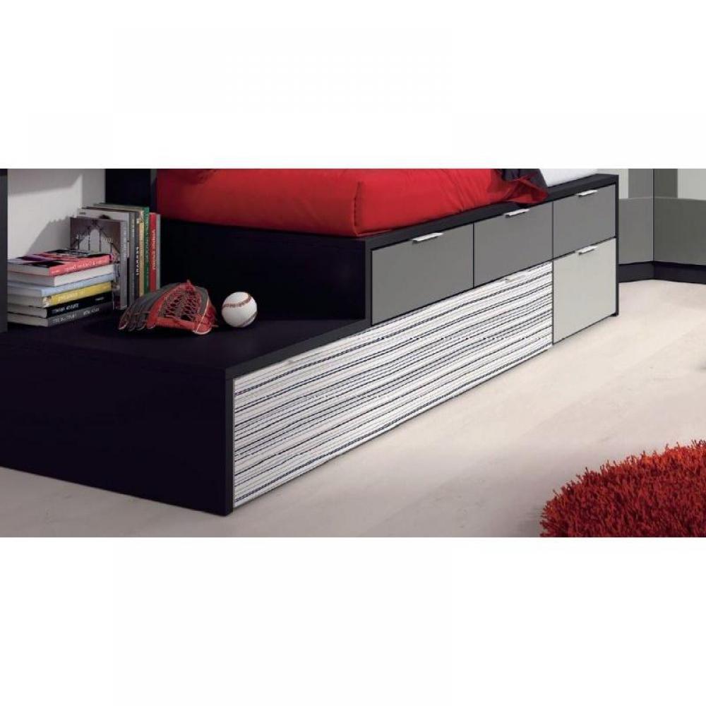 Lits chambre literie ensemble lit gigogne compact iberis avec 4 tiroi - Lit gigogne 3 couchages ...
