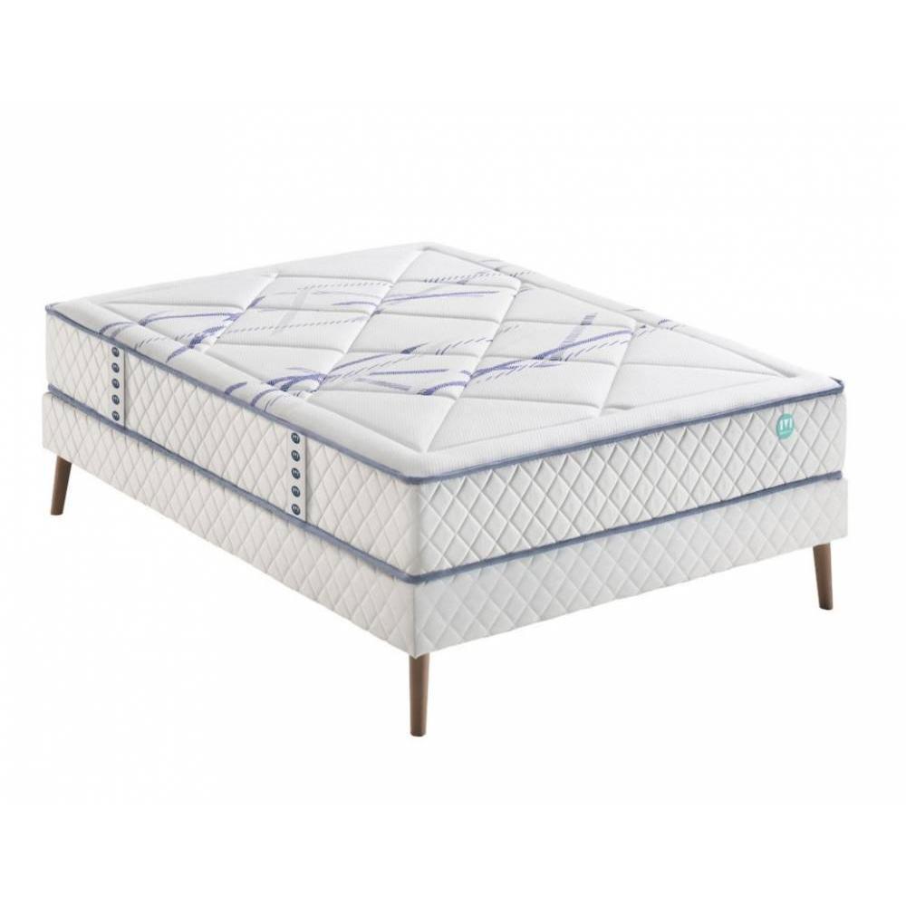 ensemble de matelas et sommier au meilleur prix ensemble merinos sommier ferme avec matelas. Black Bedroom Furniture Sets. Home Design Ideas