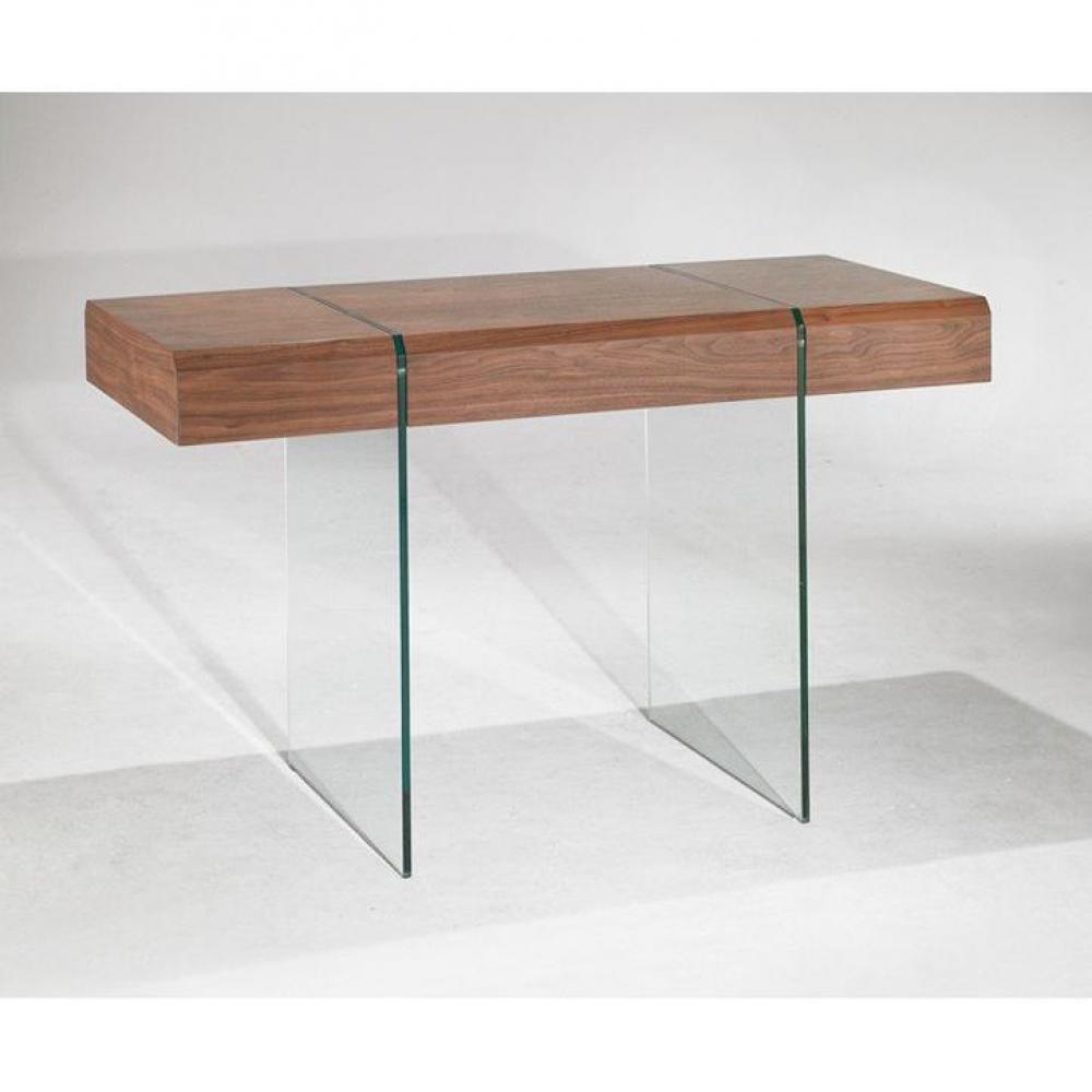 bureaux meubles et rangements enterprise bureau design bois et verre avec tiroirs inside75. Black Bedroom Furniture Sets. Home Design Ideas