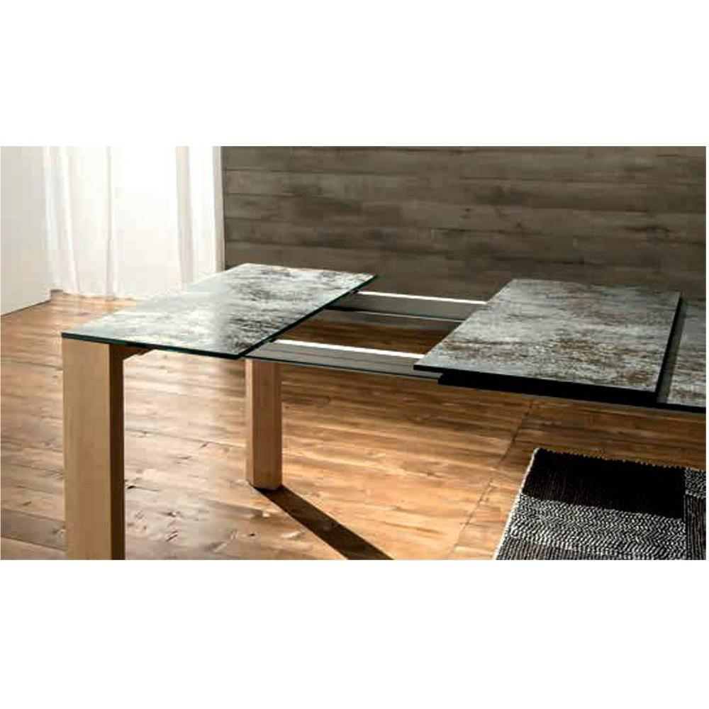table de repas design au meilleur prix equinox table repas extensible en verre c ramique. Black Bedroom Furniture Sets. Home Design Ideas