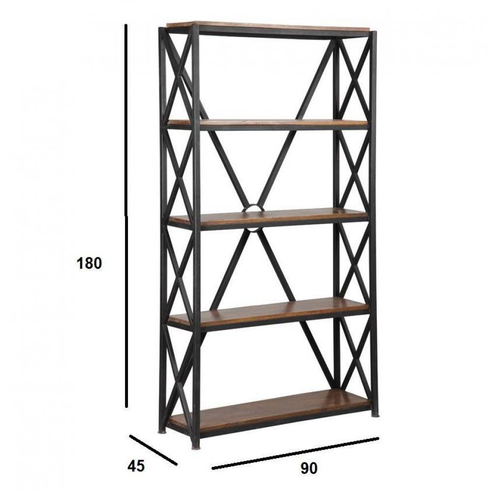 biblioth ques tag res meubles et rangements etag re recover en acier et bois inside75. Black Bedroom Furniture Sets. Home Design Ideas