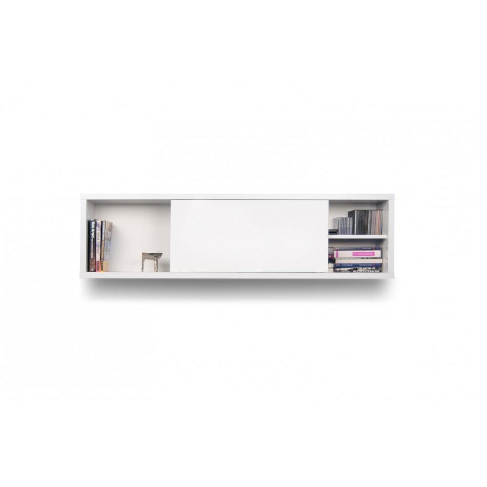 Biblioth ques tag res meubles et rangements nilo for Meuble mural 100 cm