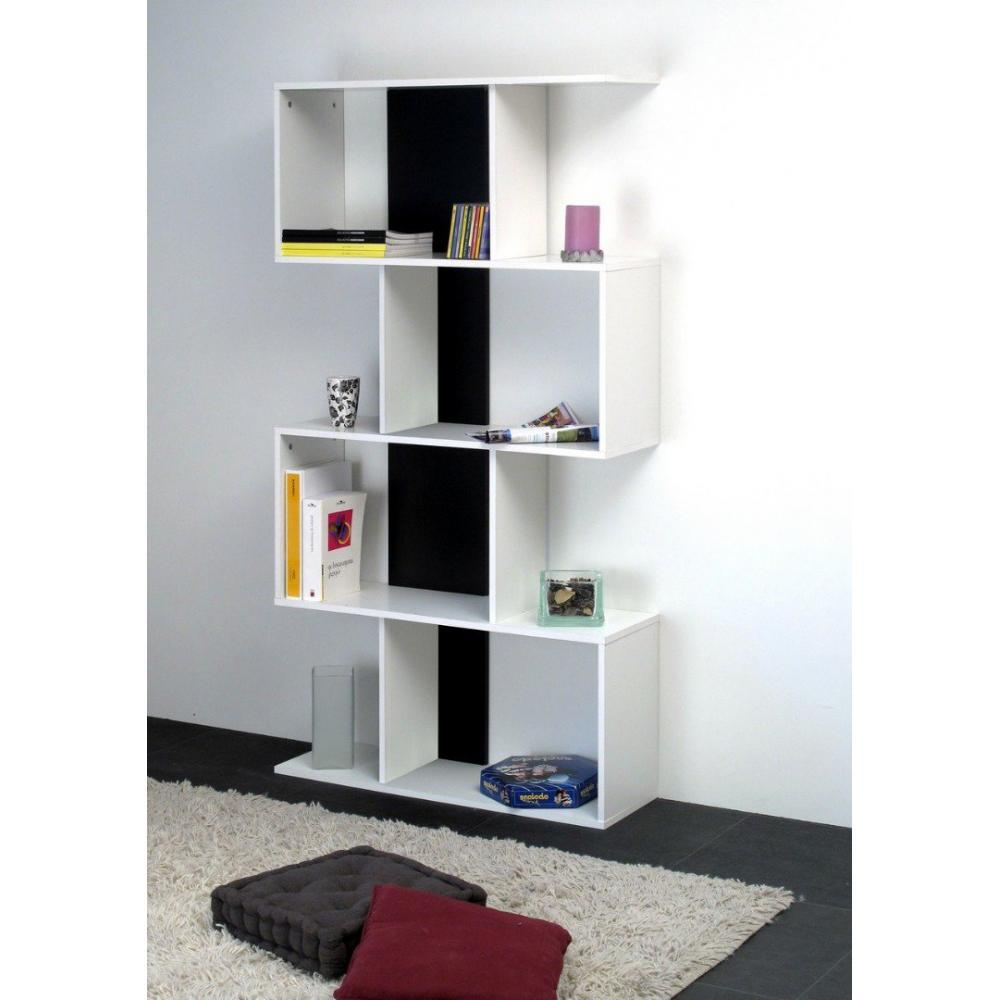 biblioth ques tag res meubles et rangements box tag re biblioth que ouverte couleur blanc et. Black Bedroom Furniture Sets. Home Design Ideas