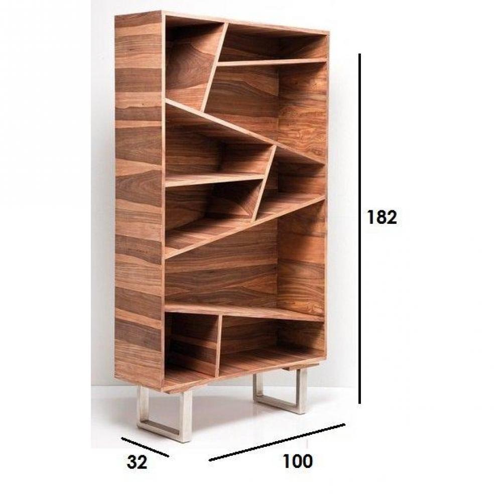 bibliothèques étagères, meubles et rangements, wild, étagère en ... - Meuble Bois Massif Design