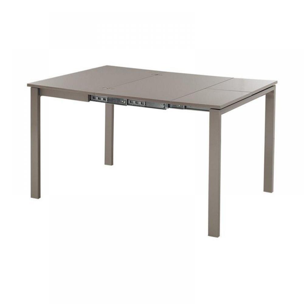 bureaux tables et chaises console extensible evolutive en table repas laque taupe inside75. Black Bedroom Furniture Sets. Home Design Ideas
