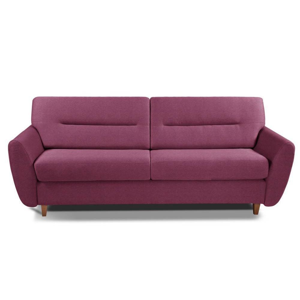 Canapé droit 4 places Rose Tissu Design Confort