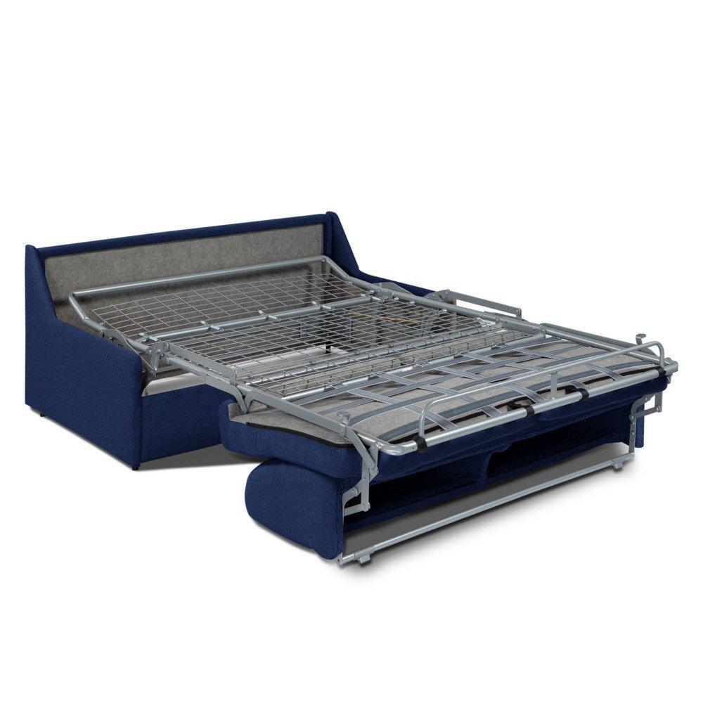 Canapé convertible GAIN DE PLACE EXPRESS 140cm matelas 14cm neo bleu cobalt