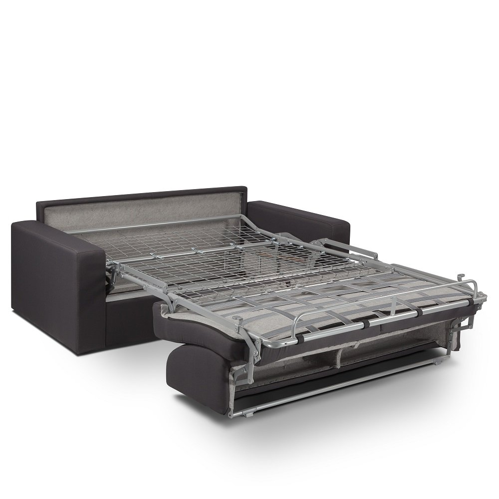 Canapé convertible express MIDNIGHT 140cm matelas 16cm neo marron