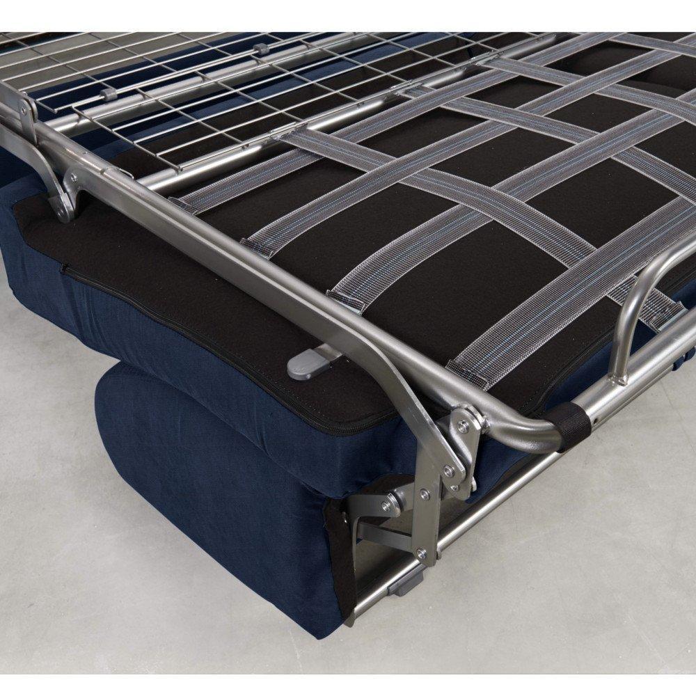 Canapé convertible MIDNIGHT EXPRESS 140cm matelas 16cm neo bleu cobalt