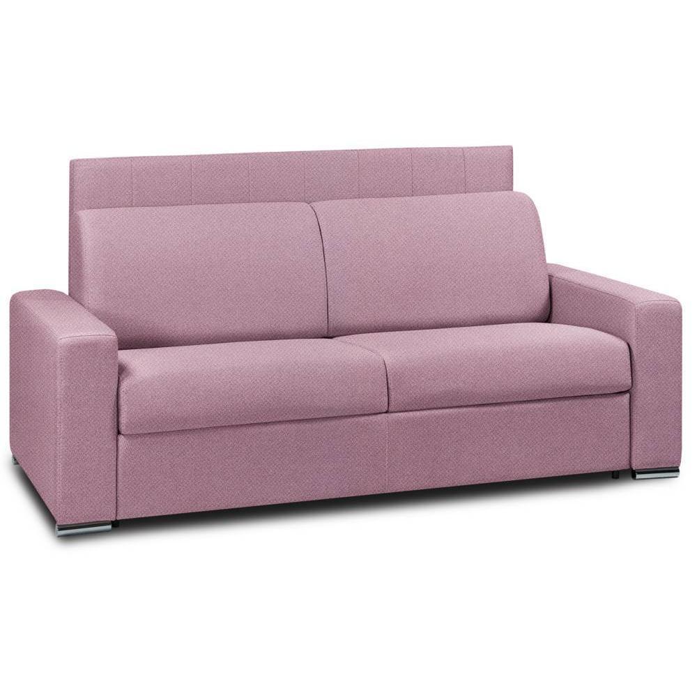 Canapé droit 3 places Rose Tissu Design Confort