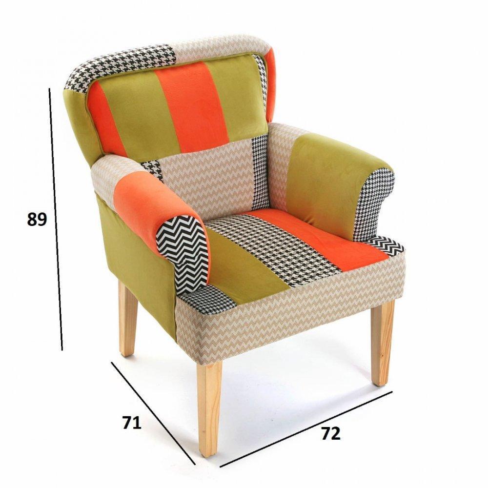 chauffeuse petit fauteuil design au meilleur prix houndstooth fauteuil design patchwork avec. Black Bedroom Furniture Sets. Home Design Ideas