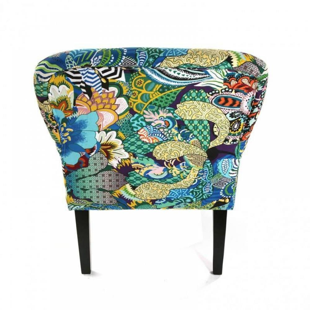 Fauteuils poufs design au meilleur prix fauteuil agnes avec accoudoirs - Fauteuil tissu patchwork ...