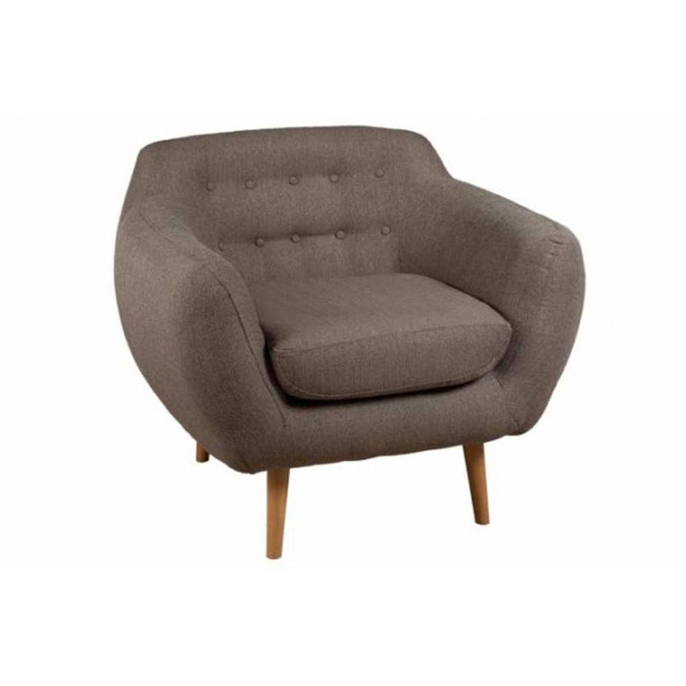 fauteuil design au meilleur prix fauteuil alpha en tissu taupe style scandinave inside75. Black Bedroom Furniture Sets. Home Design Ideas