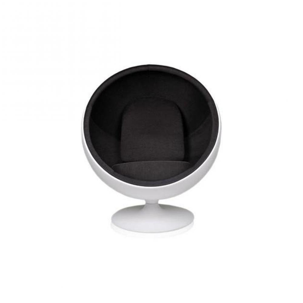 fauteuil boule design et vintage au meilleur prix fauteuil boule ball chair coque blanche. Black Bedroom Furniture Sets. Home Design Ideas
