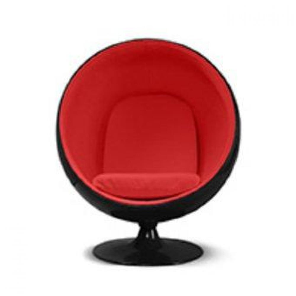 fauteuil boule ball chair vintage retro noir rouge 2 Résultat Supérieur 5 Bon Marché Fauteuil Boule Photos 2017 Shdy7