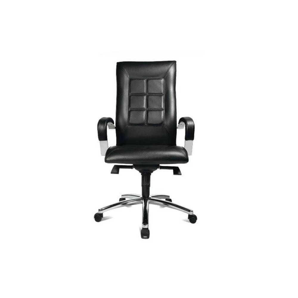 fauteuils de bureau meubles et rangements fauteuil de bureau r glable triumph en cuir noir. Black Bedroom Furniture Sets. Home Design Ideas