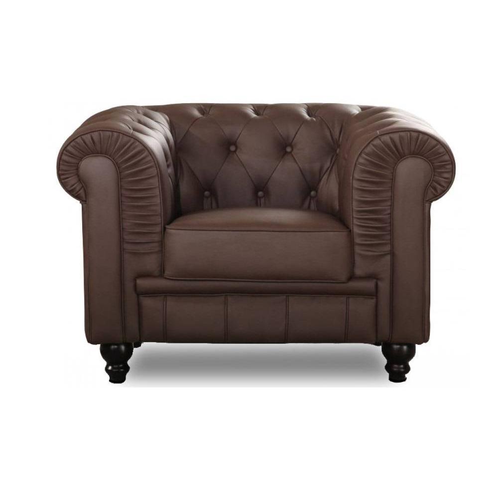 fauteuils design canap s et convertibles fauteuil fixe chesterfield royal marron capitonn. Black Bedroom Furniture Sets. Home Design Ideas