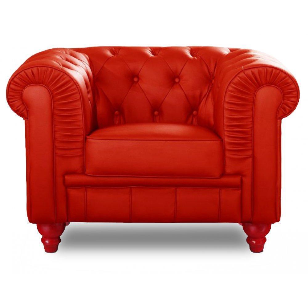 fauteuils design canap s et convertibles fauteuil fixe chesterfield royal rouge capitonn. Black Bedroom Furniture Sets. Home Design Ideas