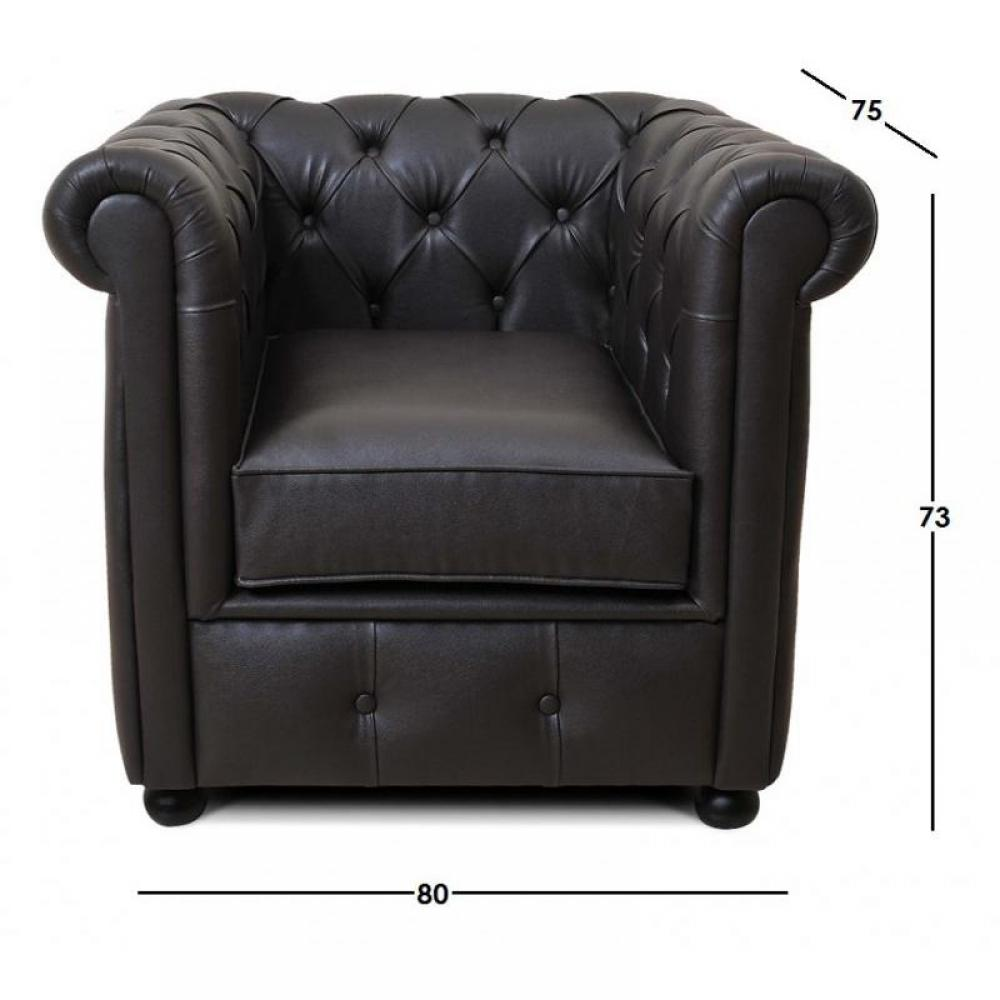 canap s convertibles ouverture rapido fauteuil chesterfield royal chocolat inside75. Black Bedroom Furniture Sets. Home Design Ideas