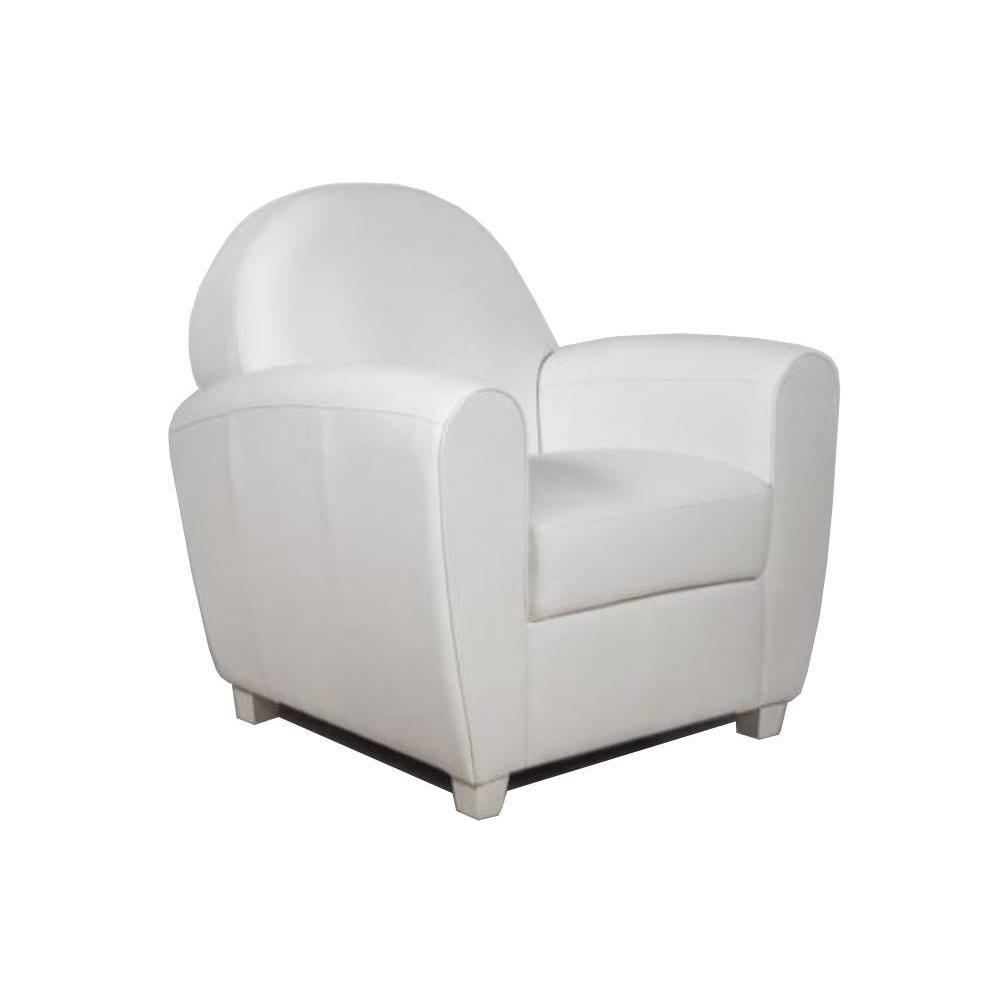fauteuils et poufs canap s et convertibles fauteuil club bufallo blanc inside75. Black Bedroom Furniture Sets. Home Design Ideas