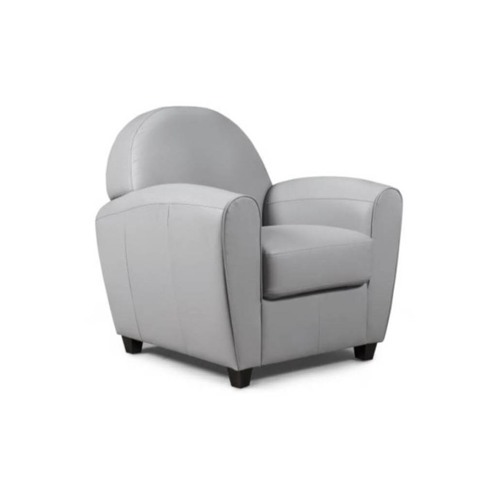 fauteuils club canap s et convertibles fauteuil club bufallo gris clair inside75. Black Bedroom Furniture Sets. Home Design Ideas