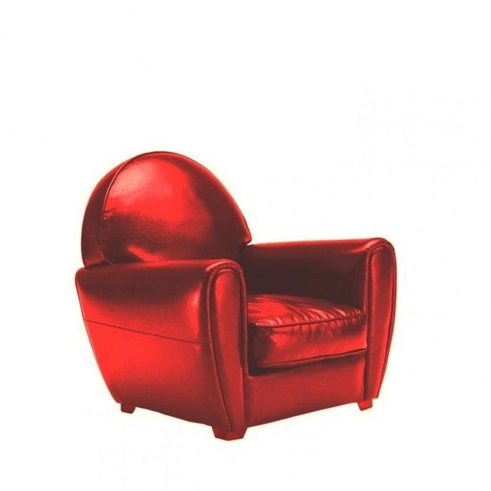 Canap club en tissu ou cuir vieilli au meilleur prix - Fauteuil club cuir rouge ...