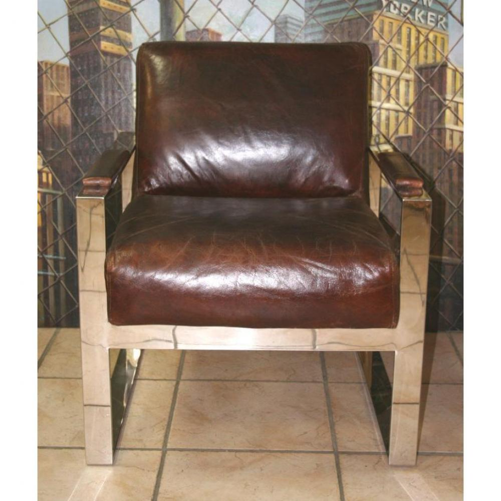 Delightful canape cuir vieilli vintage 8 fauteuil club prestige cuir chrome - Fauteuil cuir vieilli vintage ...
