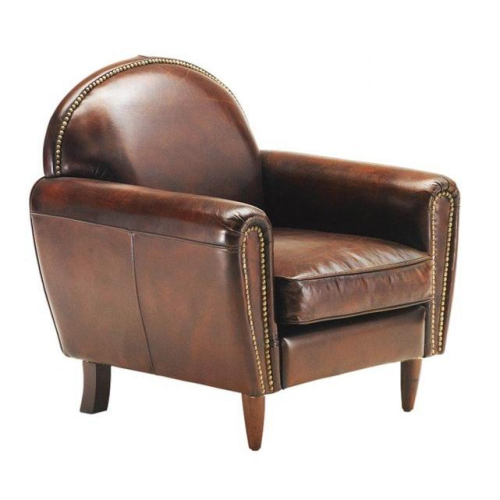 Canapé club en tissu ou cuir vieilli au meilleur prix fauteuil CLUB