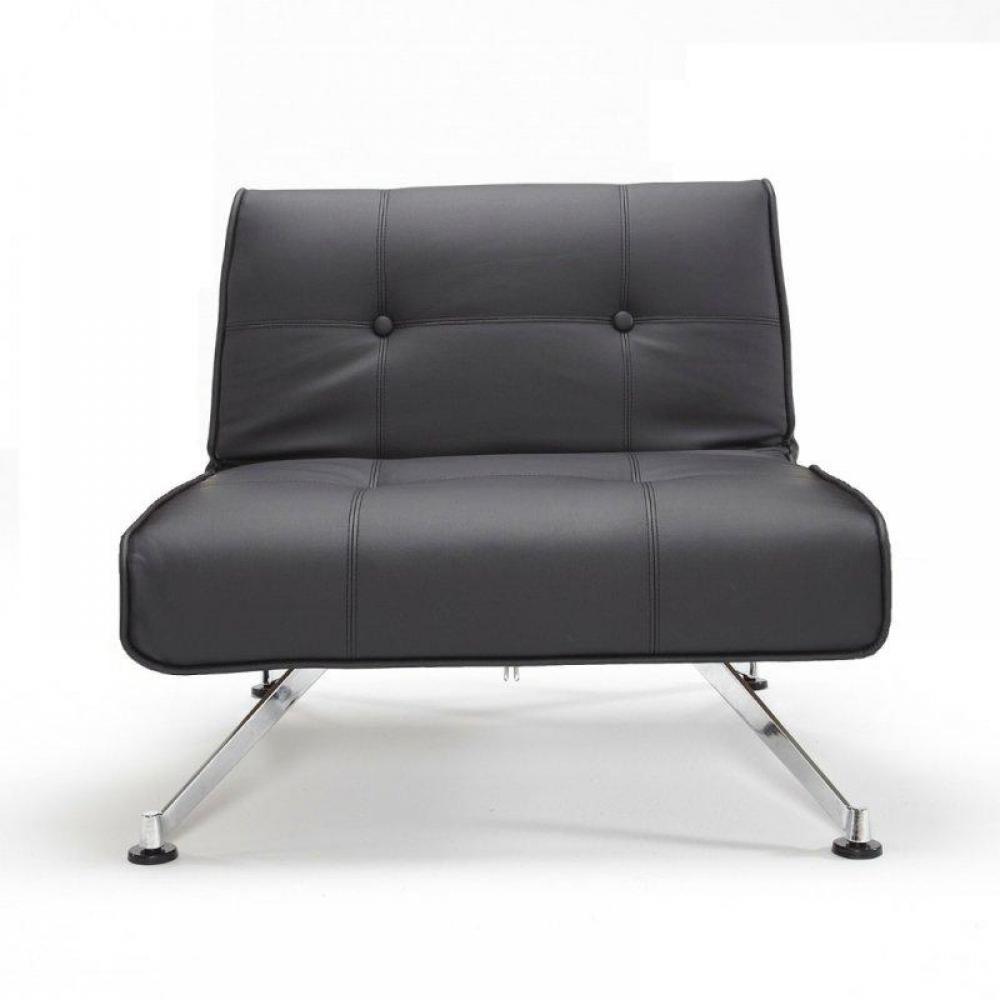 fauteuils convertibles convertibles innovation fauteuil clubber avec accoudoirs cuir noir. Black Bedroom Furniture Sets. Home Design Ideas