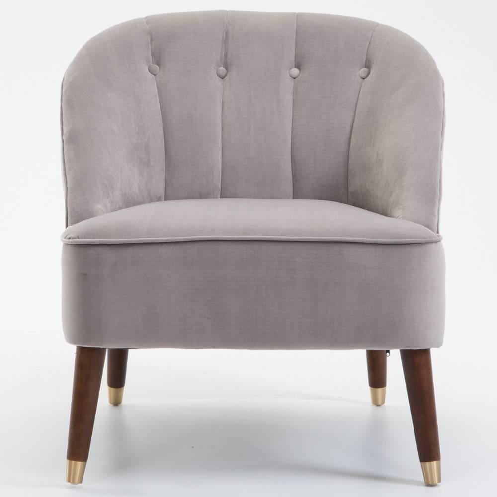fauteuils et poufs canap s et convertibles fauteuil cosy macao 1930 velours gris inside75. Black Bedroom Furniture Sets. Home Design Ideas