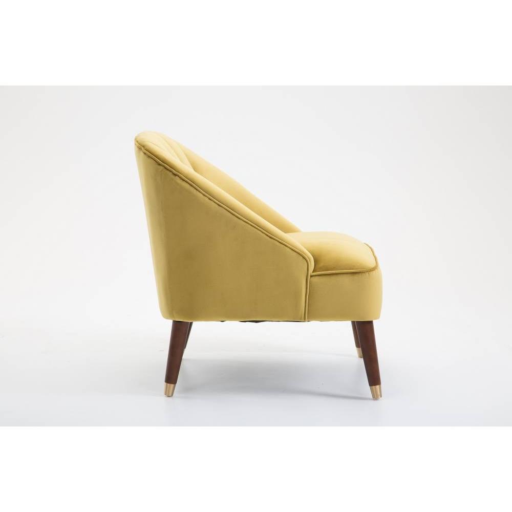 fauteuil design au meilleur prix fauteuil cosy macao 1930 velours jaune inside75. Black Bedroom Furniture Sets. Home Design Ideas