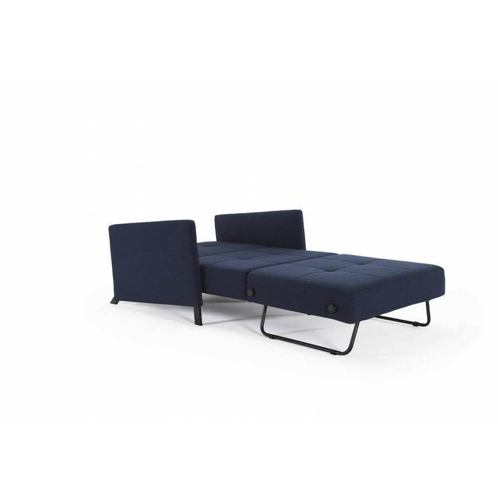 INNOVATION LIVING  Fauteuil design avec accoudoirs SOFABED CUBED 02 ARMS Mixed Dance Blue convertible lit 200*90cm
