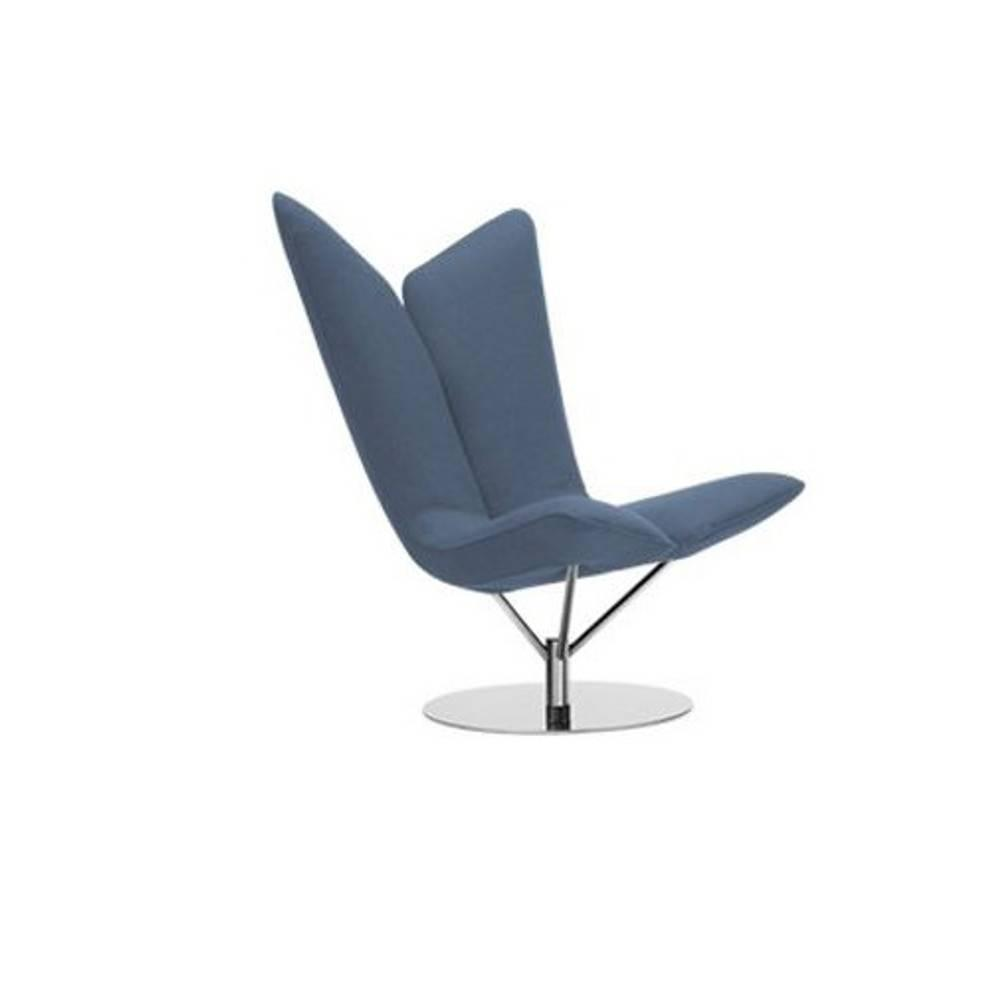 Fauteuil design ANGEL en microfibre bleue  SOFTLINE