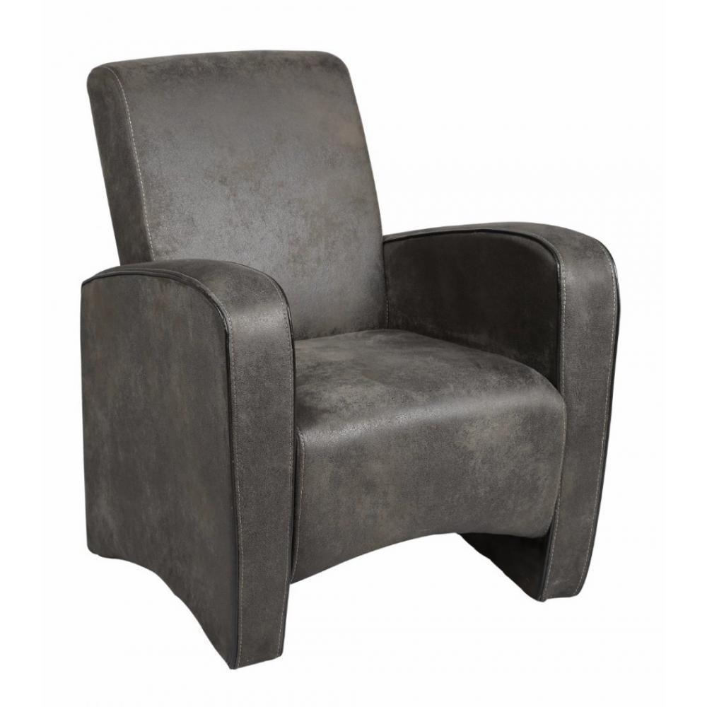 fauteuils design canap s et convertibles petit fauteuil seated microfibre grise inside75. Black Bedroom Furniture Sets. Home Design Ideas