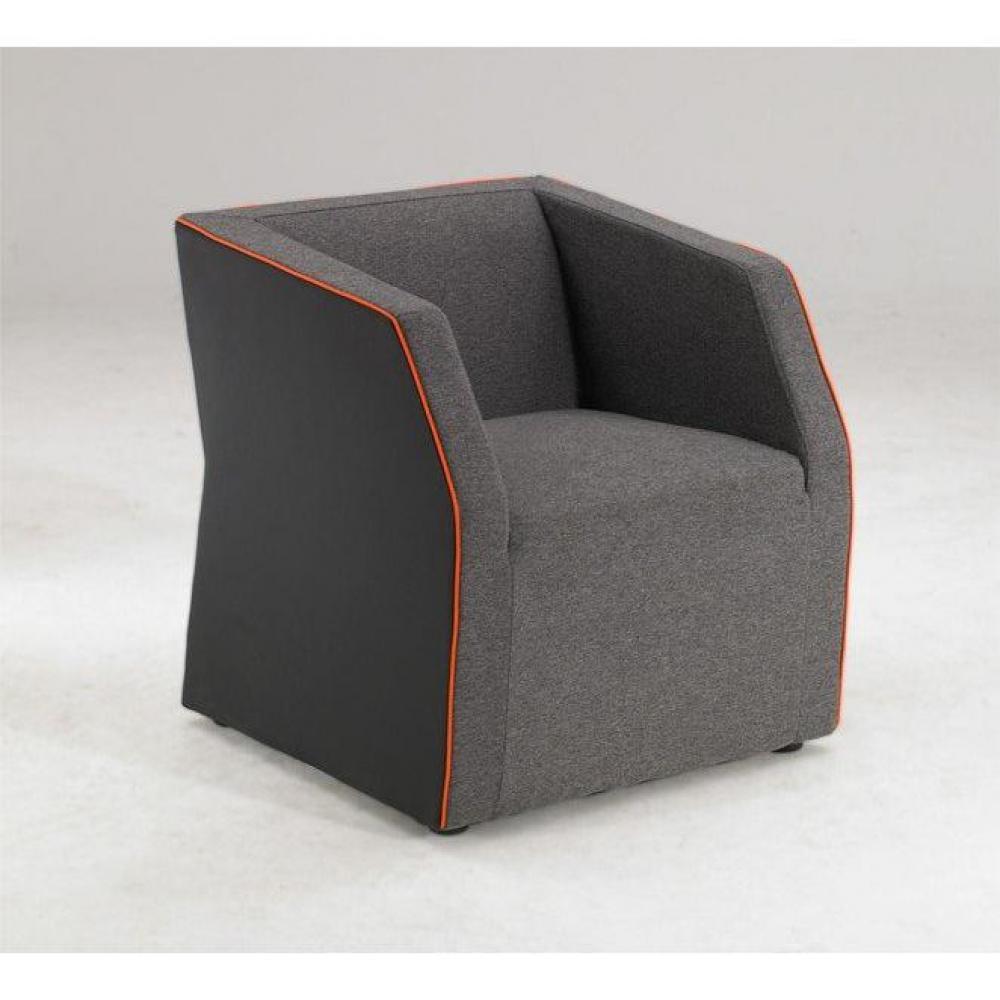 destockage promotions fauteuil design invader gris inside75. Black Bedroom Furniture Sets. Home Design Ideas