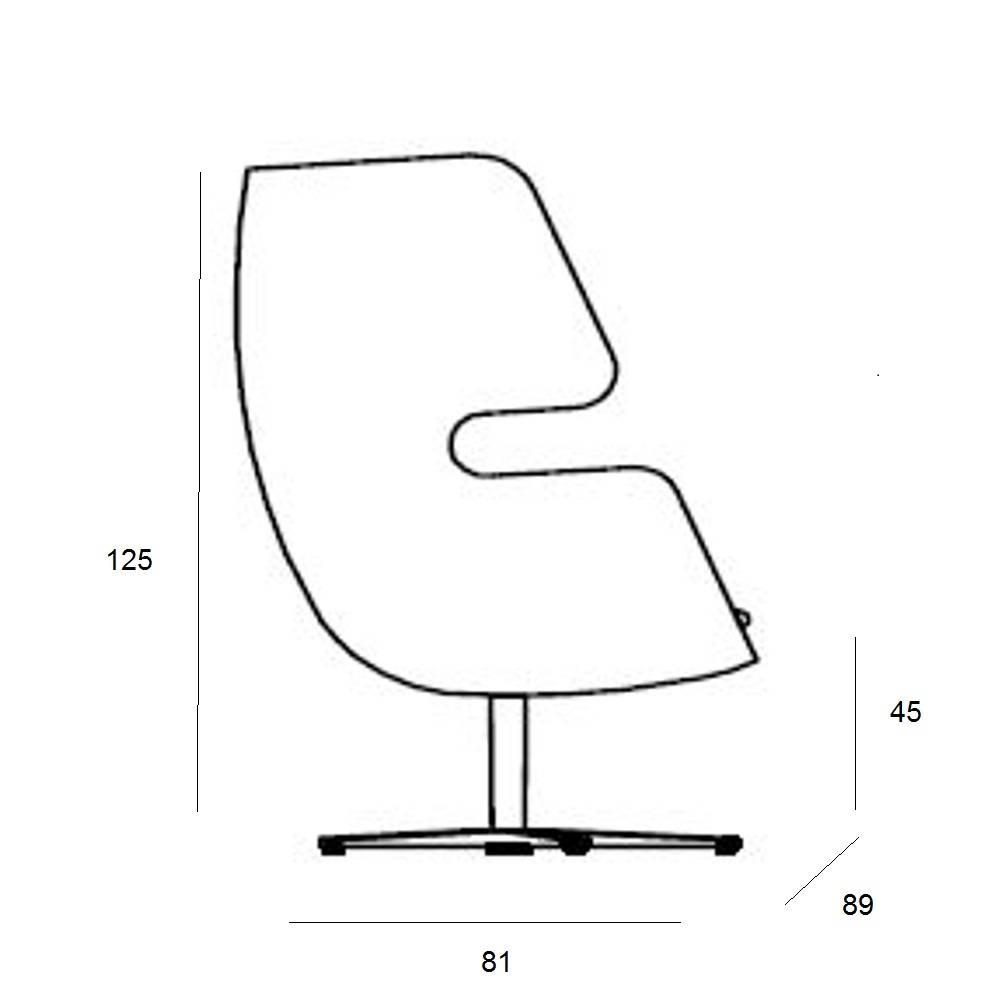 Fauteuil pivotant design MOAI SWIVEL  SOFTLINE