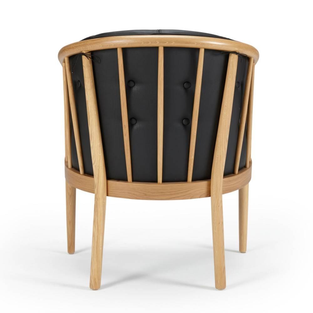 Fauteuil design scandinave ANNA accoudoirs bois