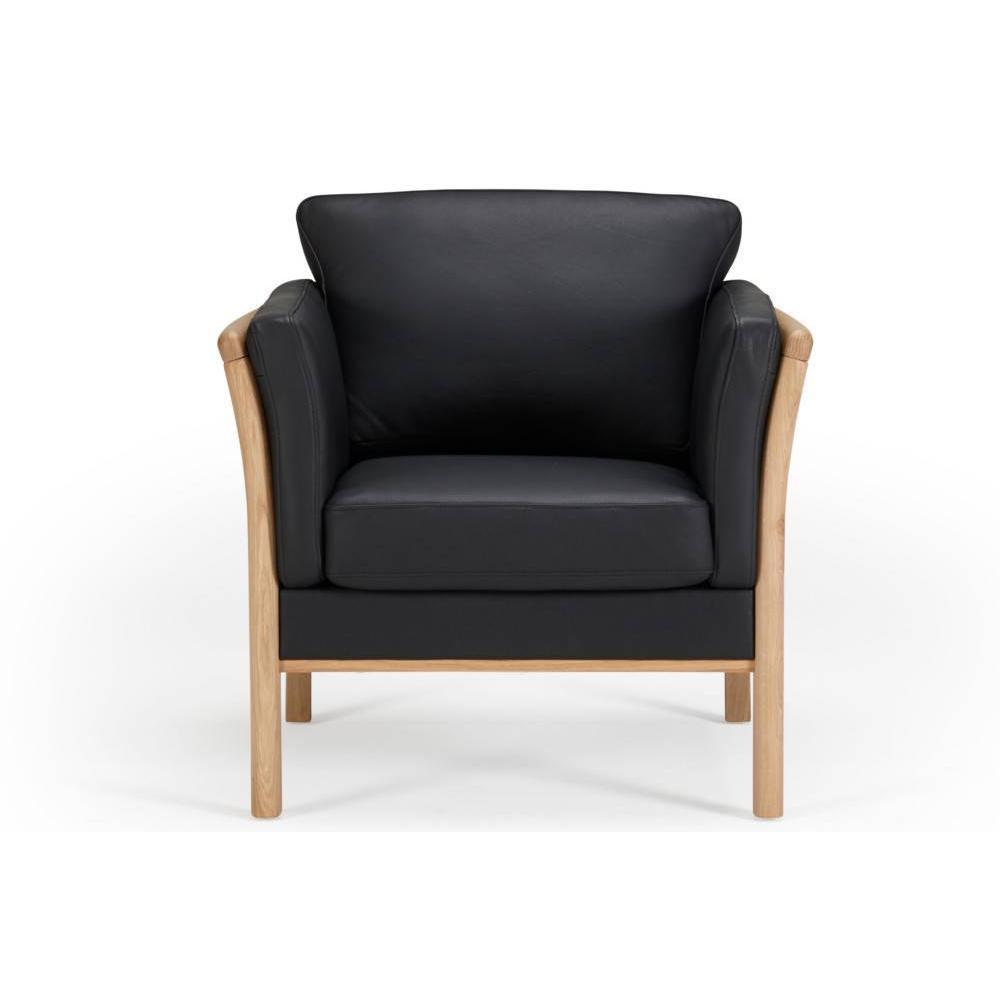 Fauteuil design scandinave AYA accoudoirs chêne