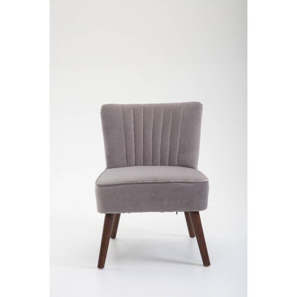 fauteuils et poufs canap s et convertibles fauteuil design scandinave go t velours gris inside75. Black Bedroom Furniture Sets. Home Design Ideas