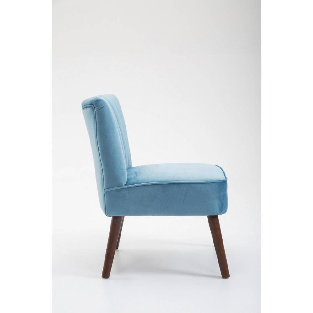 fauteuils et poufs canap s et convertibles fauteuil design scandinave go t velours bleu inside75. Black Bedroom Furniture Sets. Home Design Ideas