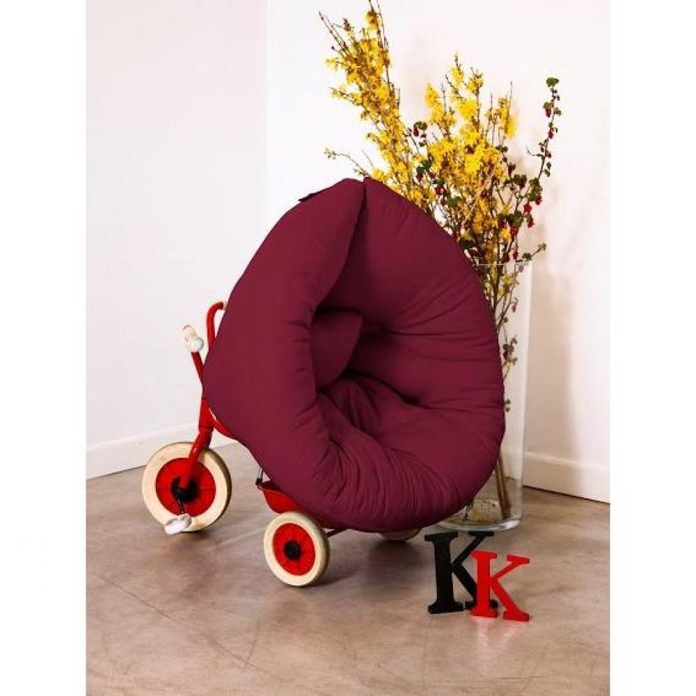 Fauteuil lit enfant NEST futon bordeaux couchage 75*150*10cm. Créez dans la chambre de votre enfant une ambiance cosy et chaleureuse avec le fa