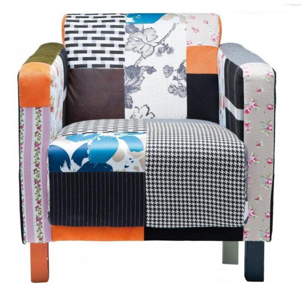 fauteuils design canap s et convertibles sunny fauteuil fixe vintage patchwork inside75. Black Bedroom Furniture Sets. Home Design Ideas