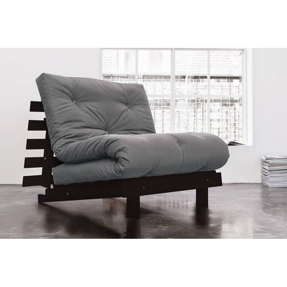 canap convertible au meilleur prix fauteuil bz weng roots wengue futon gris couchage 90 200cm. Black Bedroom Furniture Sets. Home Design Ideas