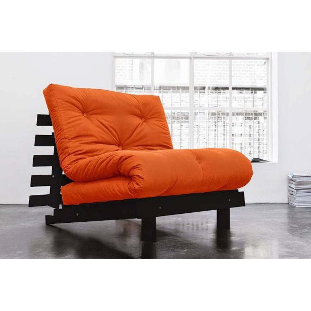 canap s convertibles ouverture rapido fauteuil bz weng roots wengue futon orange couchage 90. Black Bedroom Furniture Sets. Home Design Ideas