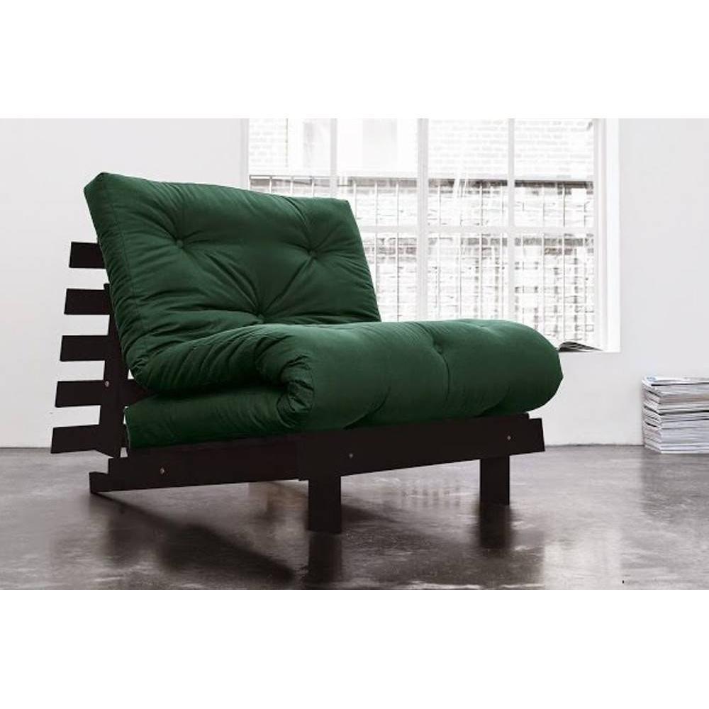 canap convertible au meilleur prix fauteuil bz weng roots wengue futon vert couchage 90 200cm. Black Bedroom Furniture Sets. Home Design Ideas